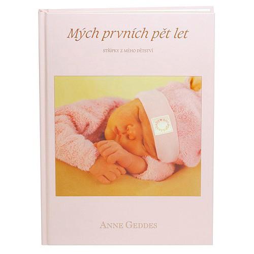Anne Geddes Kniha Mých Prvních Pět Let růžová holka CZ