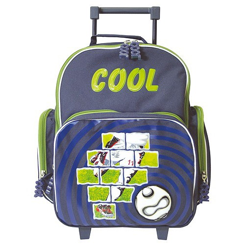Školní batoh trolley Cool fotbal-zelený