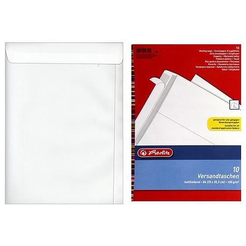 Obchodní tašky B4 Herlitz Obchodní tašky B4 10ks bílé SL, Herlitz