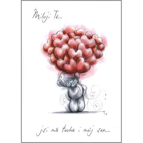 Kreslené blahopřání Me to You Miluji tě…