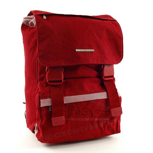 Školní batoh Benetton na přezky červená