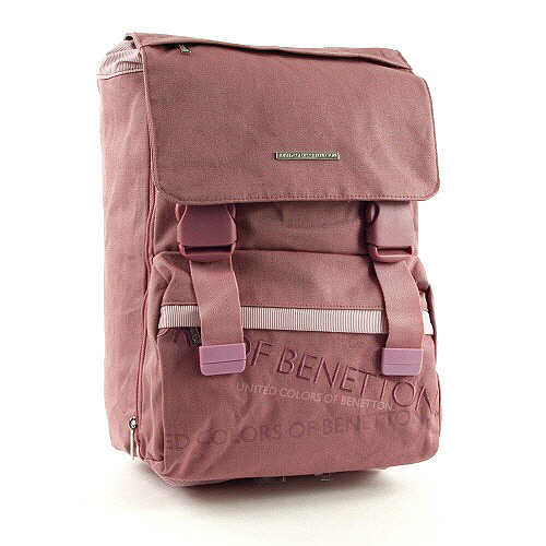 Školní batoh Benetton na přezky růžová