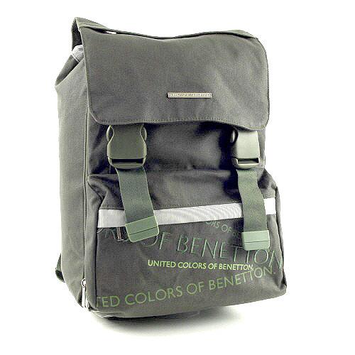 Školní batoh Benetton na přezky zelená