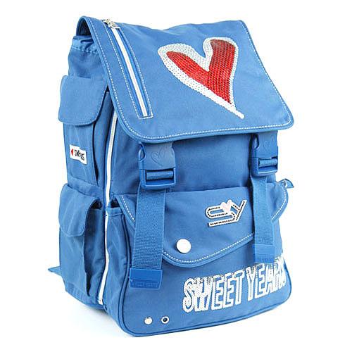 Školní batoh Sweet Years na přezky modrá