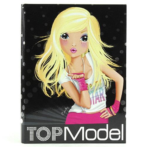Dopisní souprava a samolepky Top Model Dopisní souprava + samolepky Candy černá