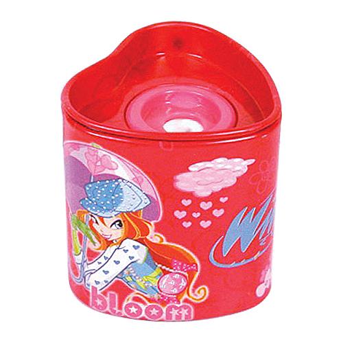 Ořezávátko Winx Club Ořezávátko srdce Bloom&Flora s deštníky červená