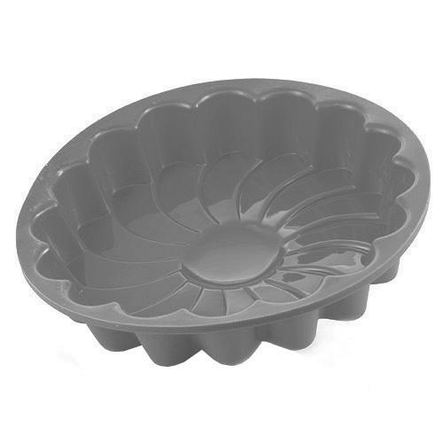 Pečící forma Smart cook silikonová šedá květina