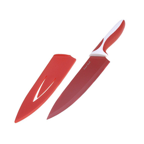 Kuchyňský nůž Smart Cook ocel/keramika červená