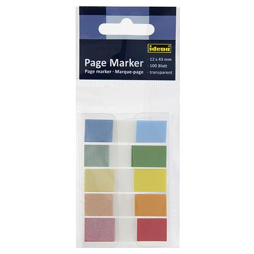 Samolepicí záložky Idena 5 pastelových barev