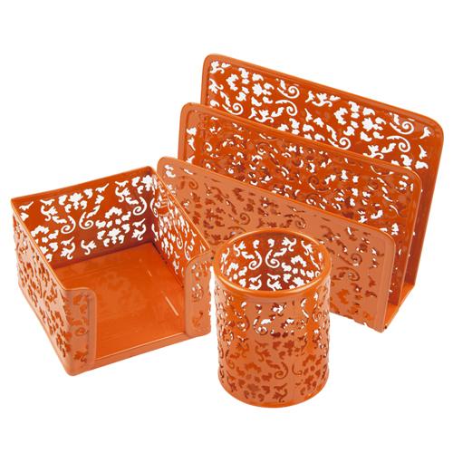Kancelářský set Idena oranžový