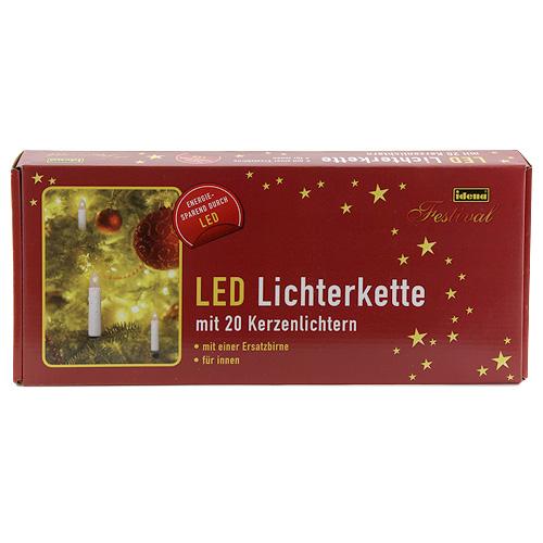 Idena Světelný řetěz vnitřní, LED, teplá bíla, 11m