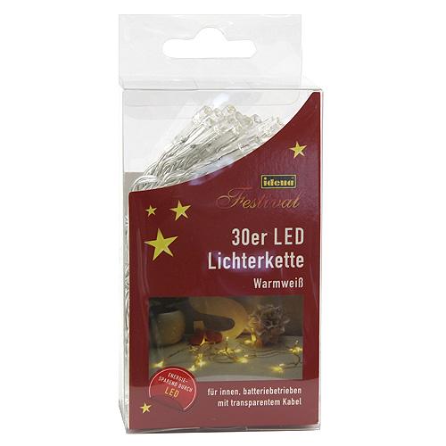 Světelný řetěz Idena vnitřní, LED, teplá bílá, 230cm