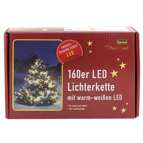 Světelný řetěz Idena vnitřní, LED, teplná bílá, 23,90m