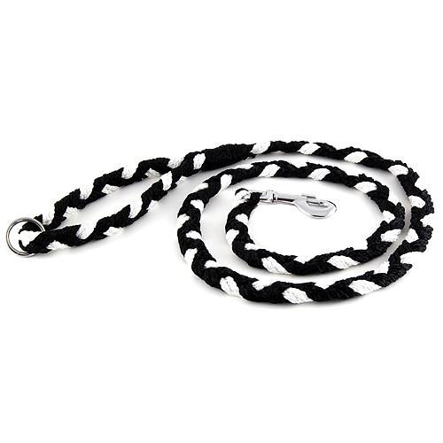 B & F Vodítko pletené 2,0x150cm černo-bílé