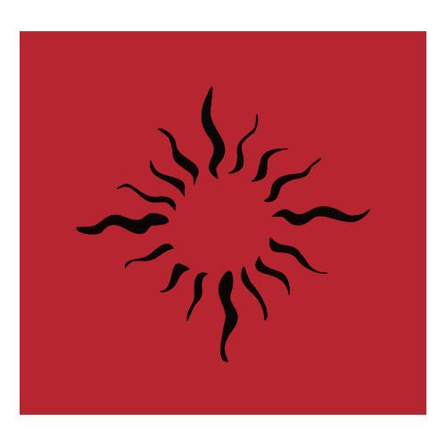Samolepicí šablona Eulenspiegel Samolepící šablony - Sluneční plameny