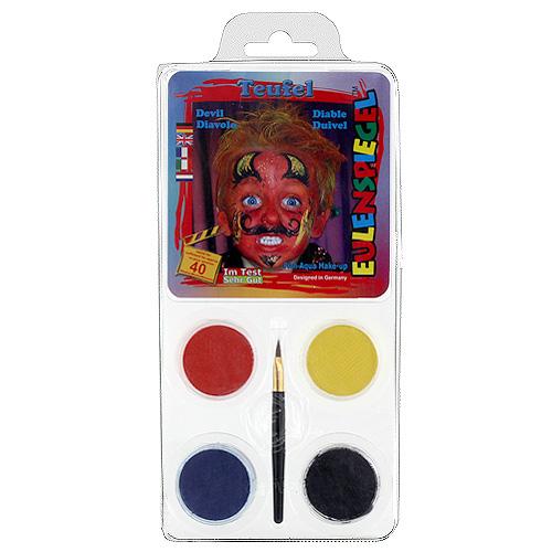 Barvy na obličej Eulenspiegel Barevné sady - Lucifer
