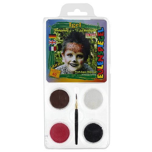 Barvy na obličej Eulenspiegel Barevné sady - Ježek