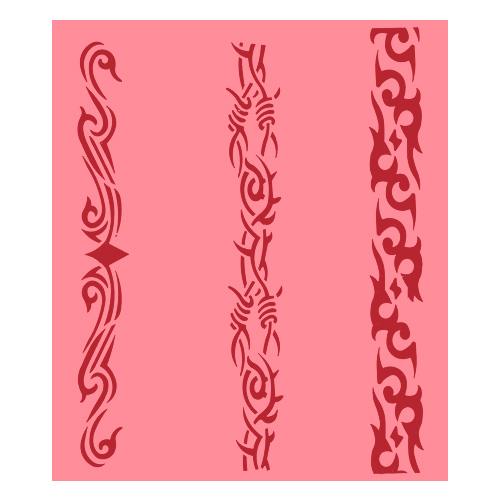 Eulenspiegel Airbrush šablona Airbrush šablony - Pásy se vzorem III