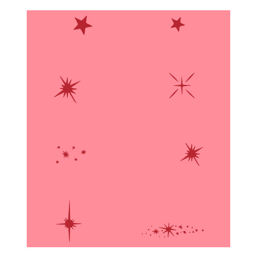 Eulenspiegel Airbrush šablona Airbrush šablony - Hvězdy