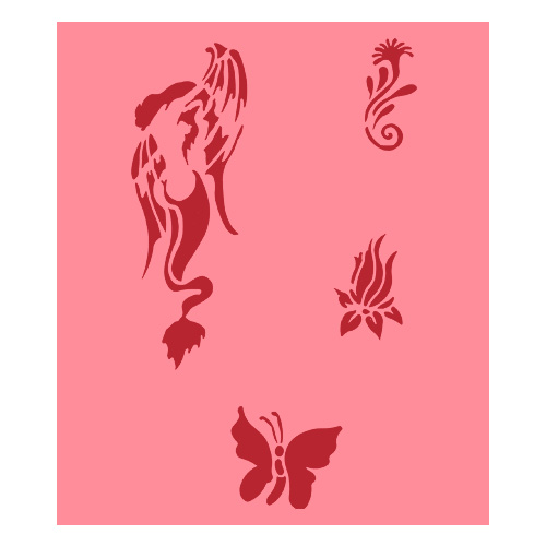 Eulenspiegel Airbrush šablona Airbrush šablony - Siren