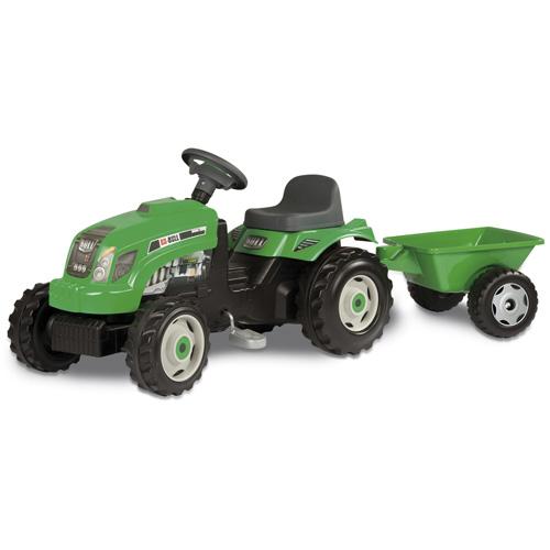 Šlapací traktor Smoby Šlapací traktor GM Bull s vlekem zelený