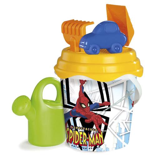 Hrací set na písek Smoby Kyblíček Spiderman s konvičkou a přísl., velký