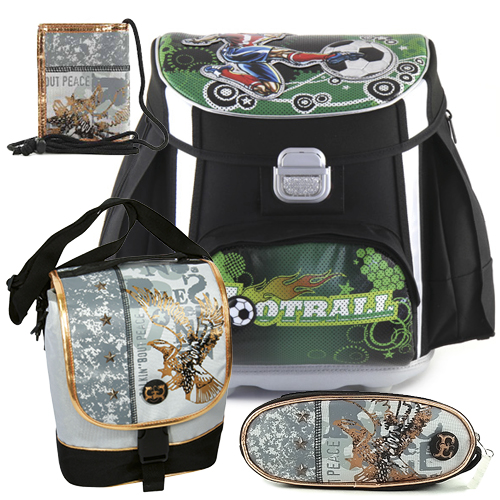 Školní aktovka Cool mini set motiv Eagle: penál, peněženka, taška svačinářka, doprava zdarma