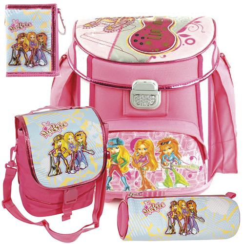 Školní aktovka Cool mini set motiv RockBabe Triple: penál, peněženka, taška svačinářka, doprava zdarma