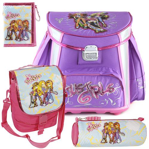 Školní aktovka Cool Victory set motiv RockBabe Triple: penál, peněženka, taška svačinářka, doprava zdarma