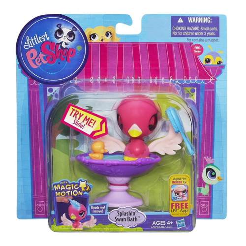 Set Littlest PetShop Hasbro Ptáče - v labutí koupeli
