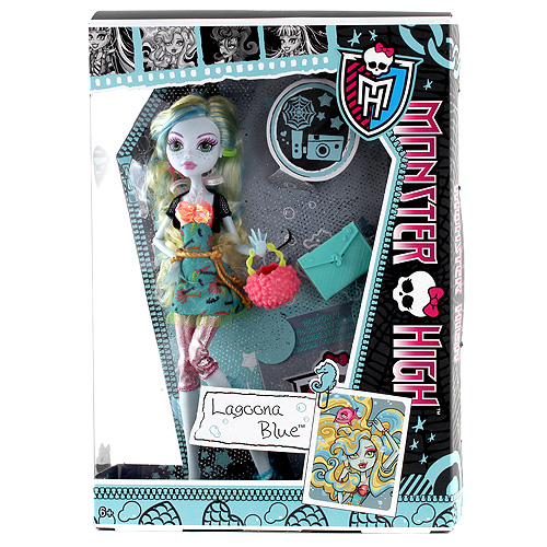 Panenka Monster High Hasbro Laggona Blue - dcera Mořské nestvůry