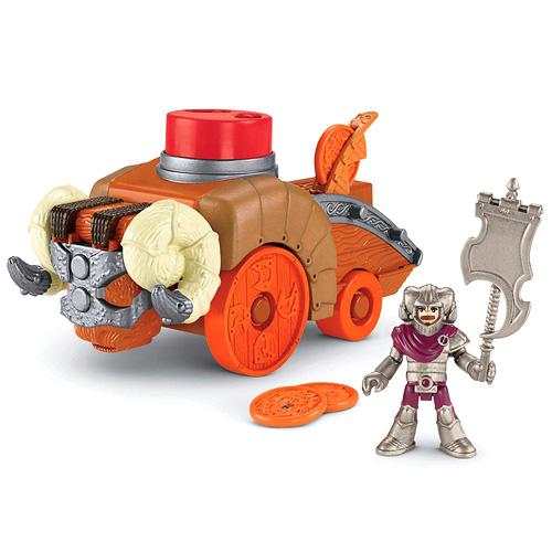 Autíčko s figurkou Imaginext Fisher-Price rytíř s vozidlem a doplňky X6582