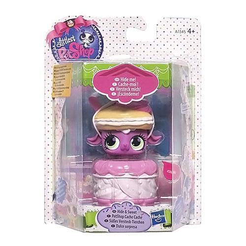 Zvířátko Littlest PetShop Hasbro zvířátko růžovo-bílý košíček