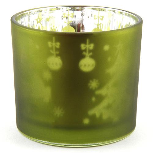 Idena Kalíšek na čajovou svíčku skleněný, zelený
