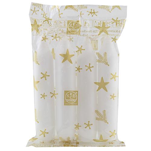 Idena Adventní svíčky 4 ks bílé, 10cm