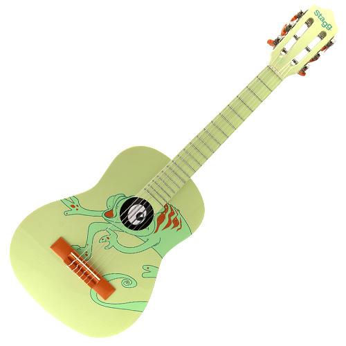 Klasická kytara Stagg zelená s motivem chameleona