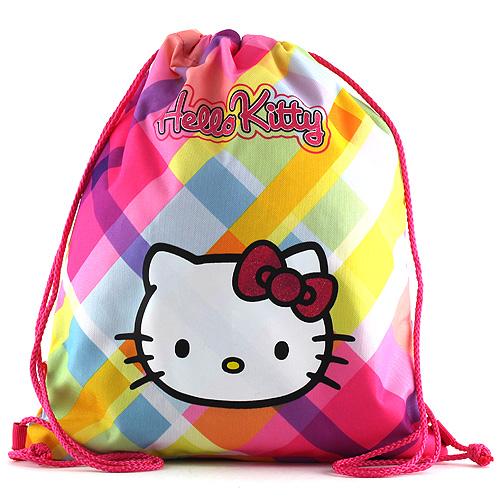 Sportovní vak Hello Kitty žluté kostky