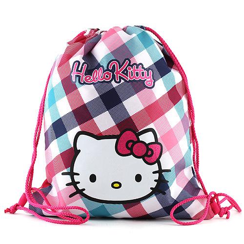 Sportovní vak Hello Kitty barevné kostky