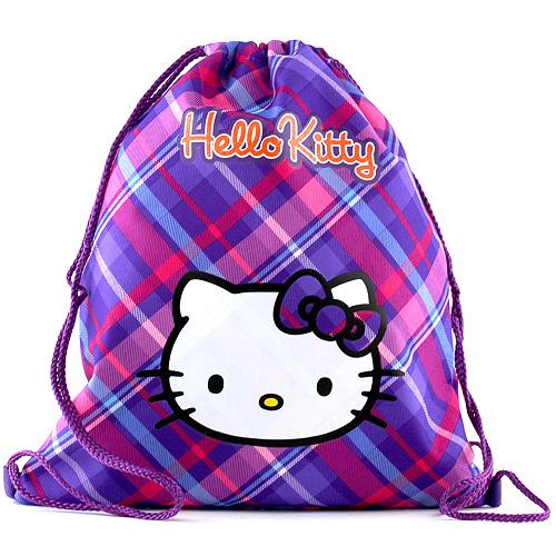 Sportovní vak Hello Kitty fialovo-růžový