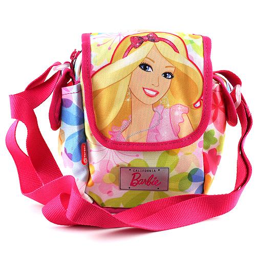 Barbie Taška přes rameno růžová, motiv květin