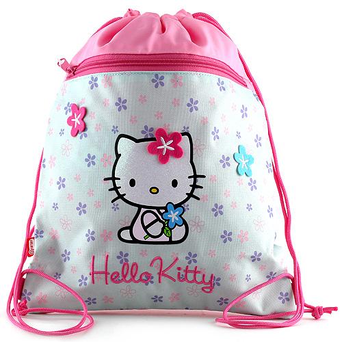 Sportovní vak Hello Kitty růžovo-modrý