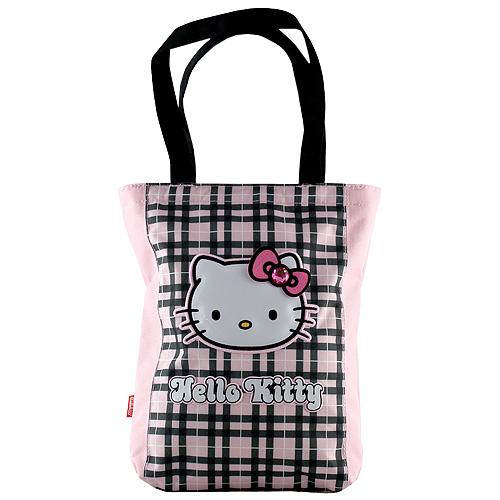 Nákupní taška Hello Kitty růžovo-černá