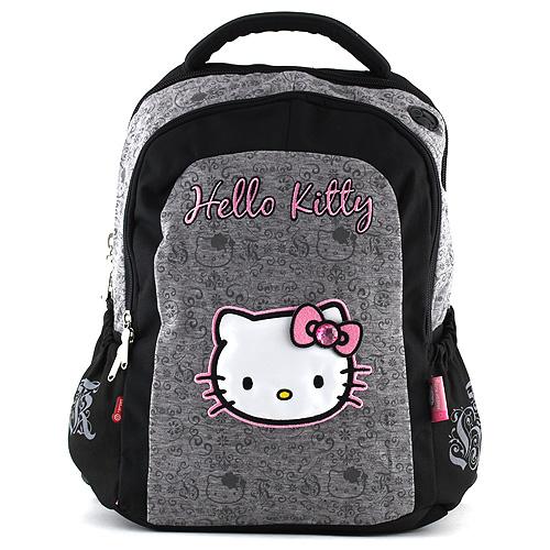 Školní batoh Hello Kitty šedá