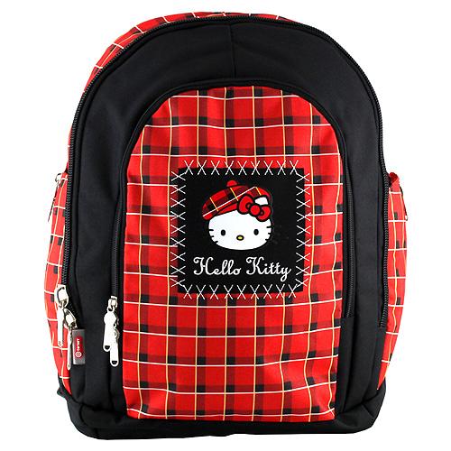 Školní batoh Hello Kitty červeno-černý
