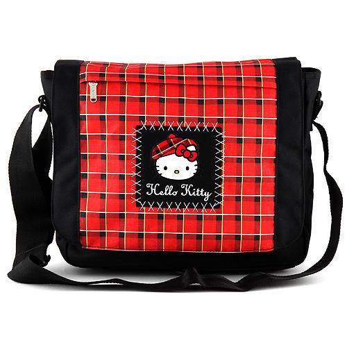 Taška přes rameno Hello Kitty červeno-černá
