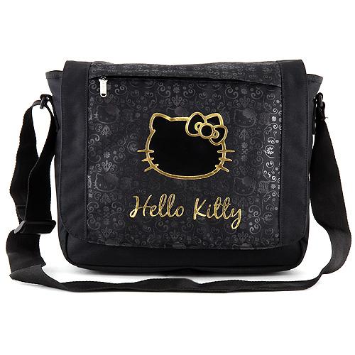 Taška přes rameno Hello Kitty černá