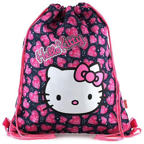 Sportovní vak Hello Kitty motiv jeans