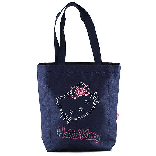 Nákupní taška Hello Kitty modrá, motiv jeans