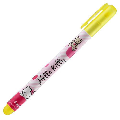 Zvýrazňovač Hello Kitty žlutá náplň - světle růžový