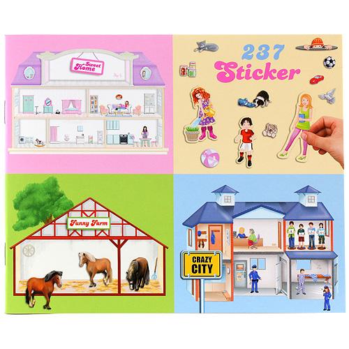 Samolepky Create Your Sweet Home, Funny Farm, Crazy City